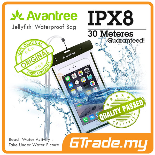 AVANTREE Waterproof Smartphone Phone Case BK Samsung Galaxy S8 S7 S6