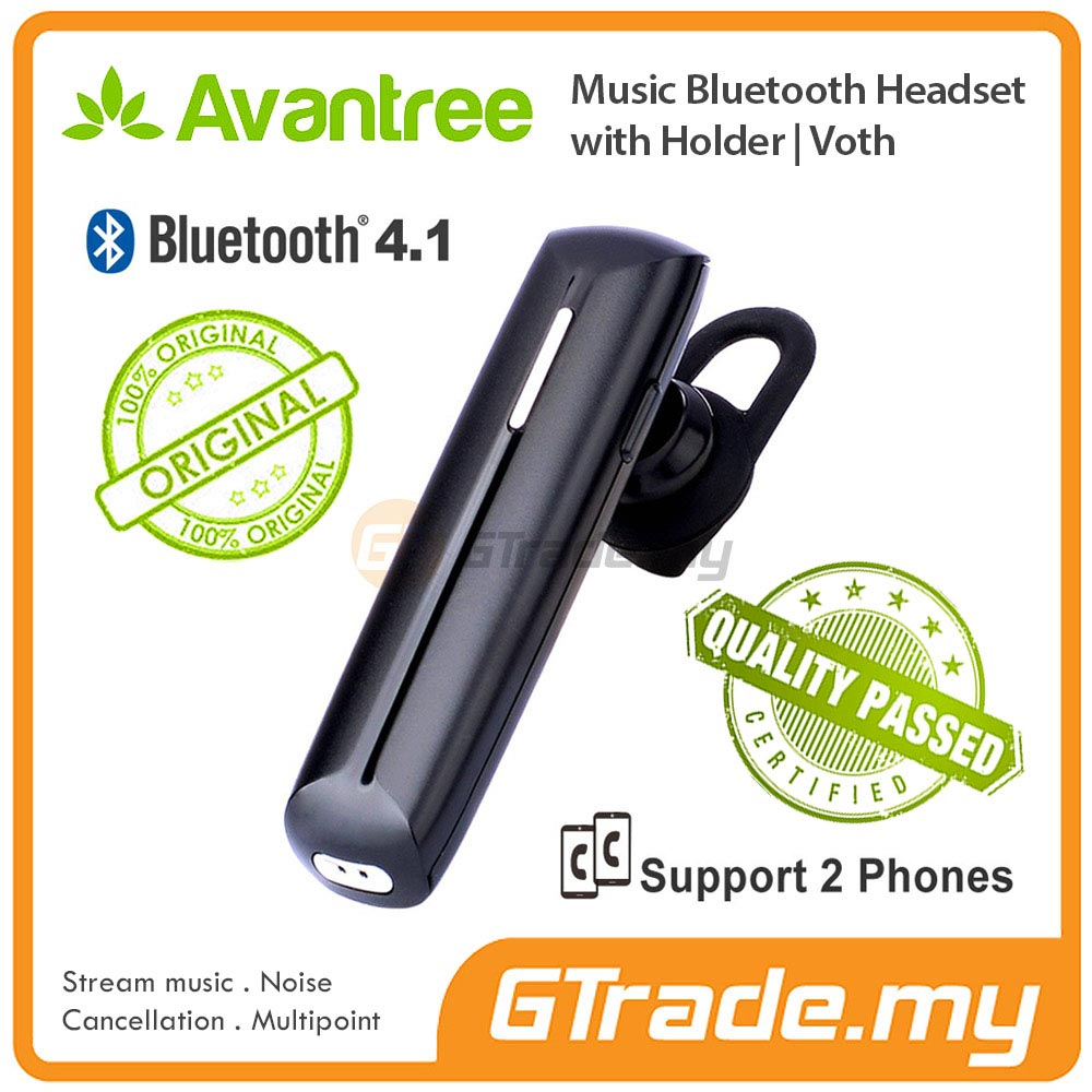 AVANTREE Wireless Bluetooth Headset Hands Free Noise Cancel Audio VOTH