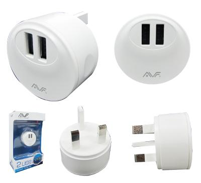 AVF DUAL USB 2.1A/10W POWER ADAPTER (AUTA10)