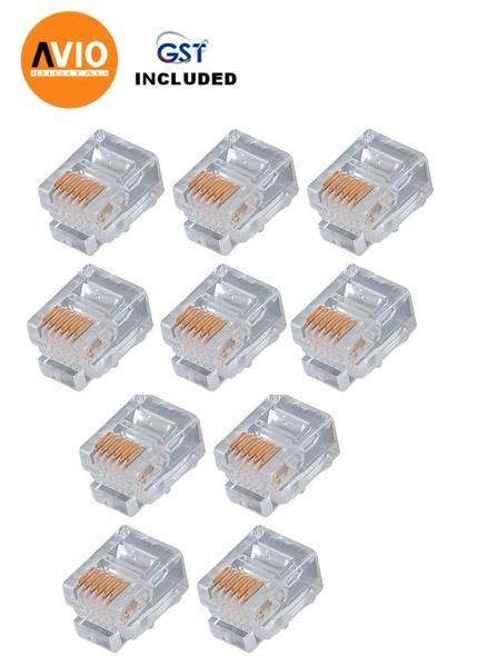 AVIO RJ45(Cat5e) Cat5e RJ45 Modular Plug / Connector  (10 PCS)