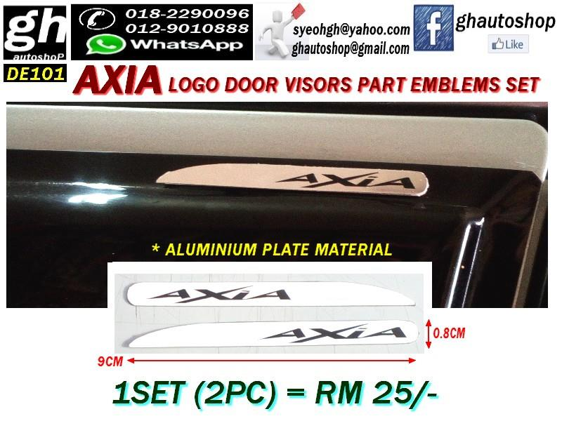 AXIA LOGO DOOR VISORS PART EMBLEMS SET DE101 (2PC)