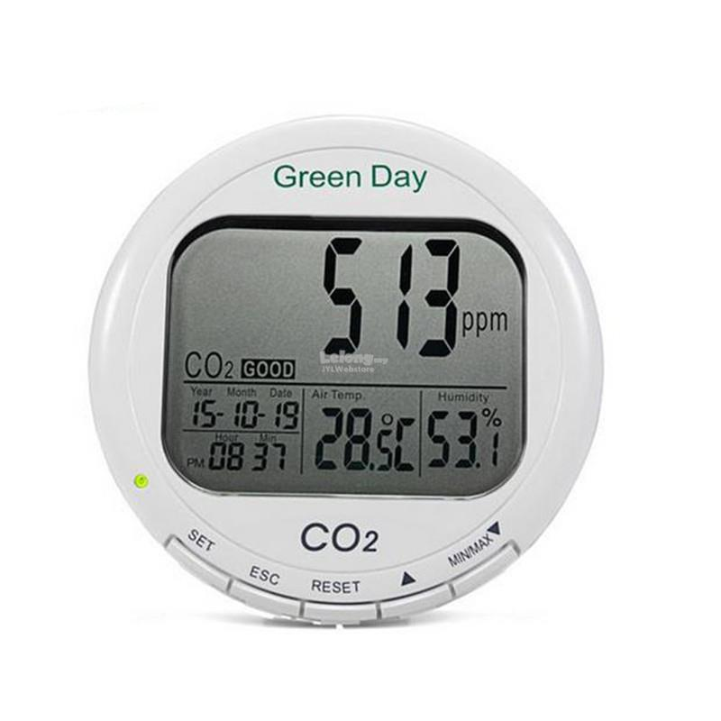 AZ7788 3 in 1 CO2 Carbon Dioxide Desktop Datalogger Monitor Indoor Air