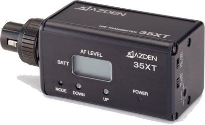 AZDEN 35XT UHF plug-in transmitter for 305/325UPR