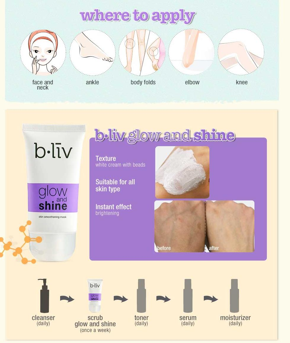 [b.liv] Glow & Shine Skin Smoothening Mask 50ml – bliv
