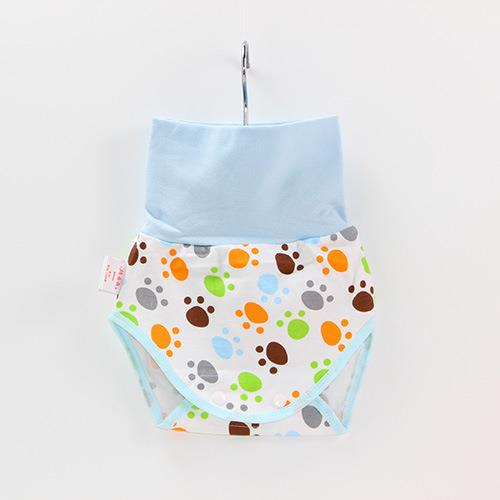 Baby Belly Protection Short Blue Footprint Cute Pants