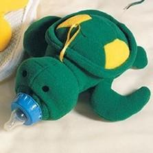 BABY BOOTLE COVER, PLUSH TOY HUGGER: TURTLE