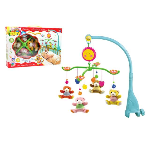 Baby Cot Musical Mobile Baby Toys (Bear)