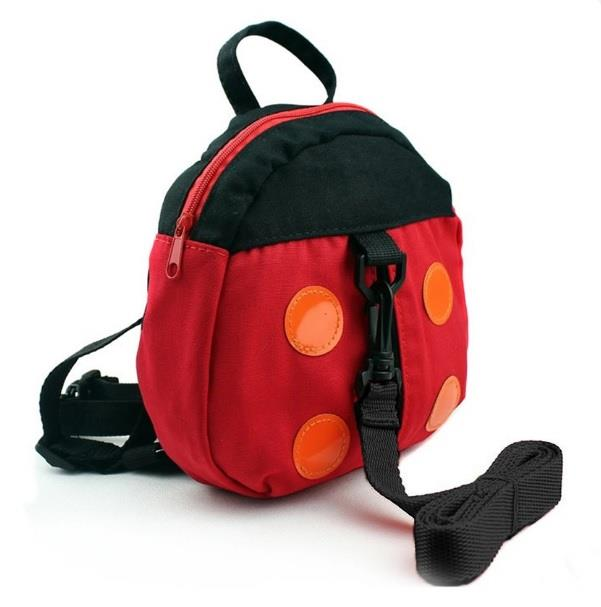 Baby Kids Anti-Lost Safety Backpack with Strap (Ladybug)