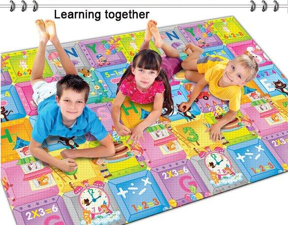 Baby Kids Children's Learning Math Two-sided Crawling Pad Beach