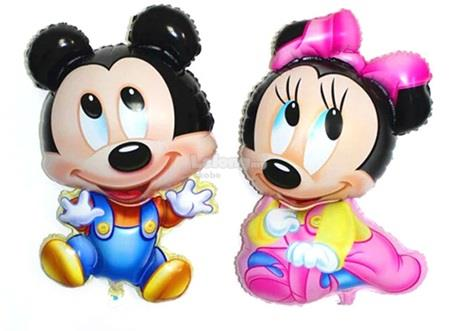 Baby Mickey Mouse Super Shape Foil Balloon Full Moon Baby Shower