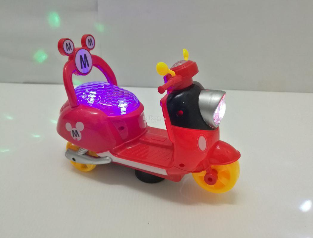 BabyQtoys mickey mouse mini electric motorcycle lights music