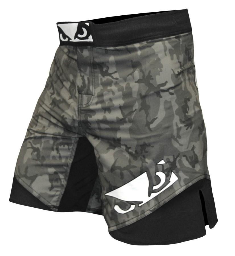 BAD BOY LEGACY II SHORTS - GREY/BLACK - Large