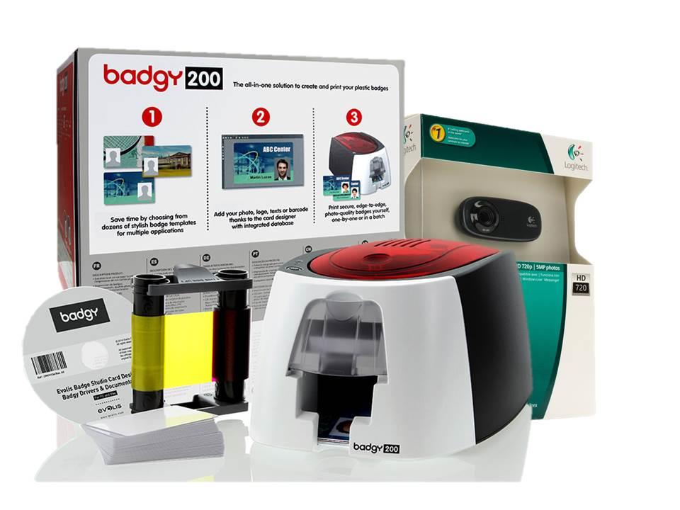 BADGY 200 ID CARD PRINTER (WITH WEBCAM)