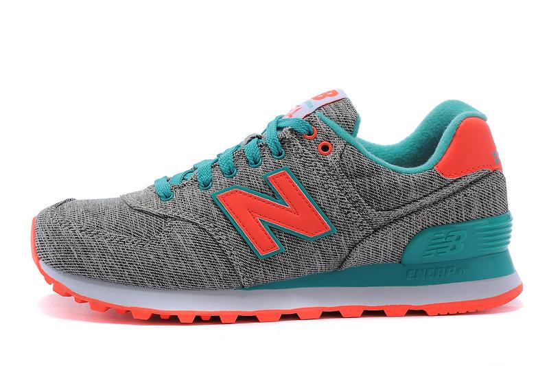 New Balance 574 WL574GTD Womens Sneakers Tidepool Grey Coral