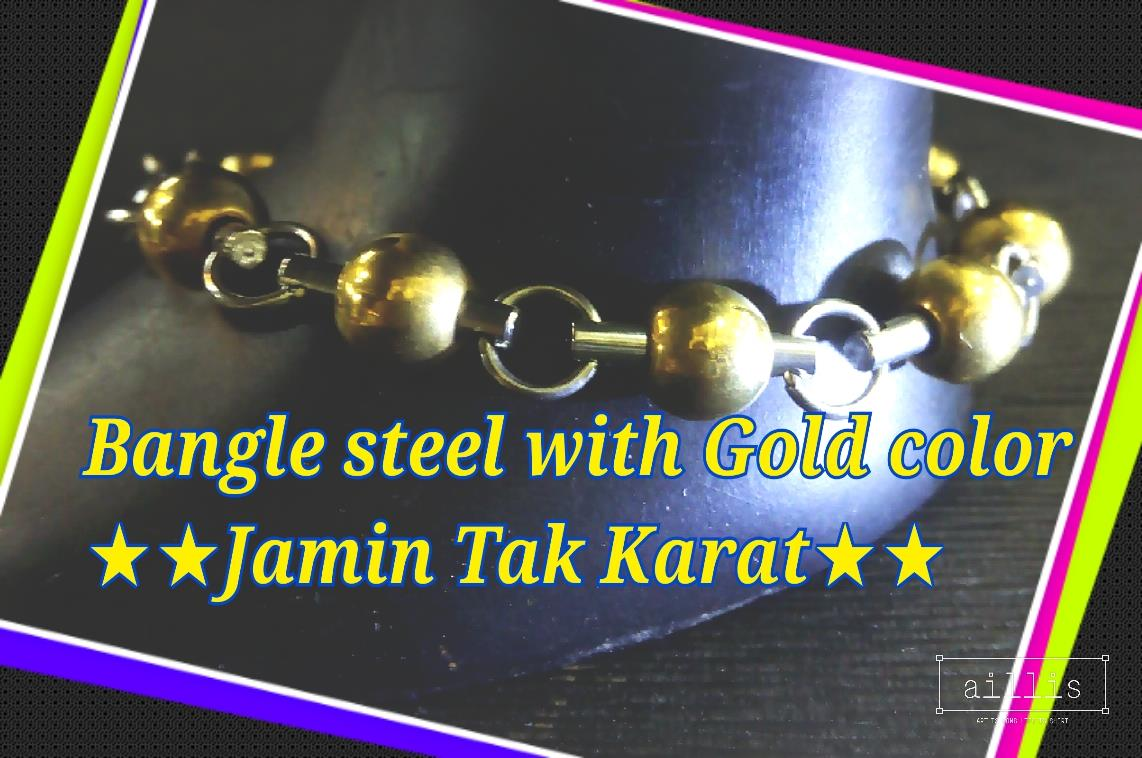 Bangle Stainless Steel #30-bulat, gold