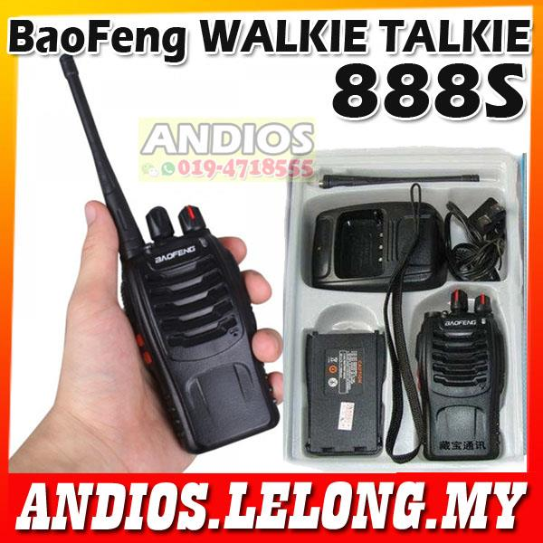BaoFeng BF-888S 16-Channel Walkie Talkie UHF BF888S Bao Feng Handset