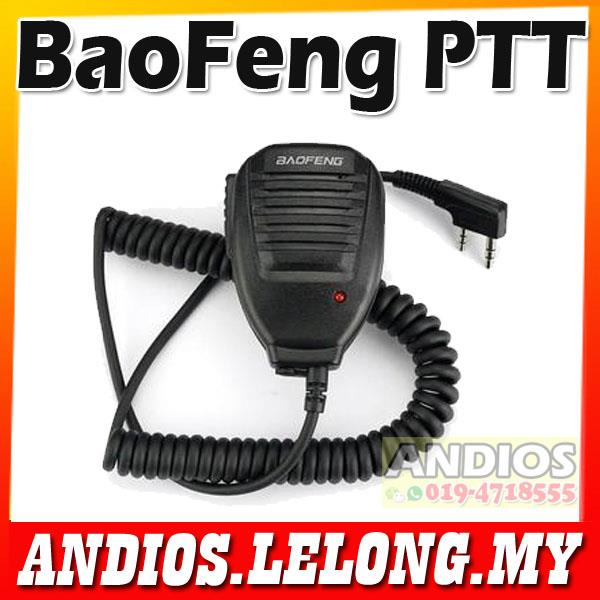 BAOFENG PTT Handsfree Speaker Microphone KENWOOD Walkie Talkie