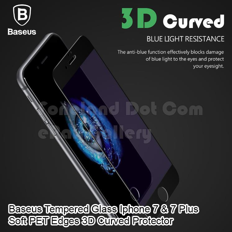 Baseus Tempered Glass Iphone 7 & 7 Plus Soft PET Edges 3D Curved