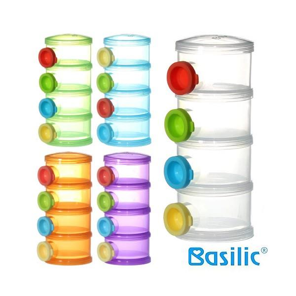 Basilic: Milk Powder Dispenser - Original Shape + 3 Lids