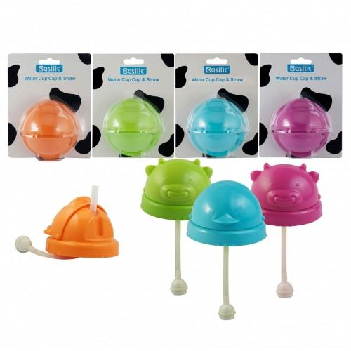 Basilic: Water Cup Cap With Straw - 1pc