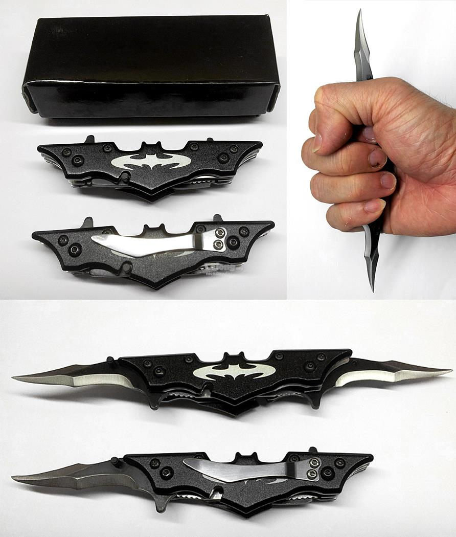 Batman Pocket Folding Knife Dual Blade