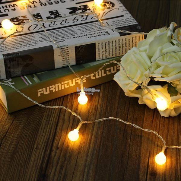 Battery Powered 5M 30 LED Ball Fairy String Light Outdoor Xmas Decor