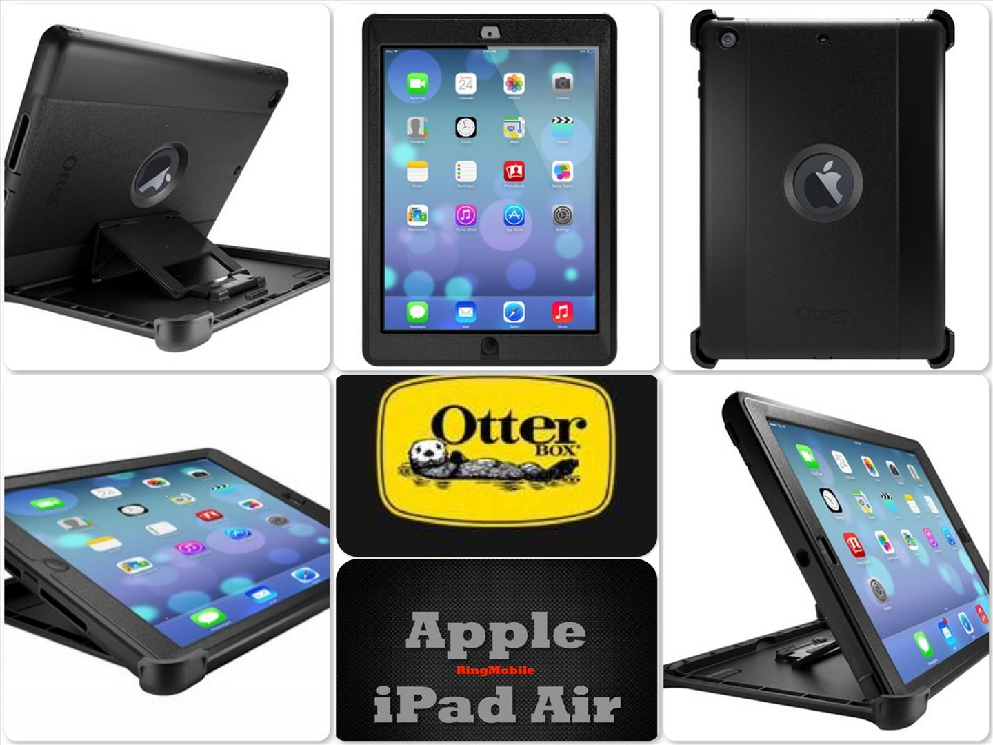 Bdotcom = Apple iPad Air Otterbox Defender Series @ Black