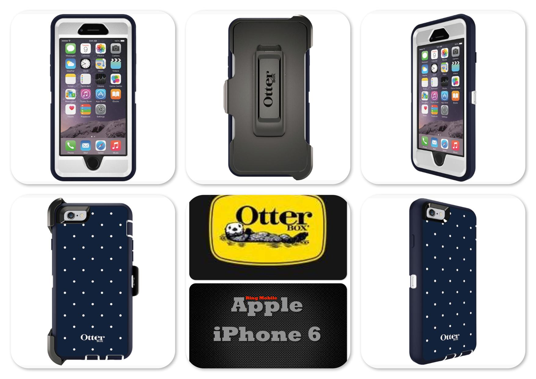 Bdotcom Apple iPhone 6 4.7' Otterbox Defender Series Case Classic Dot