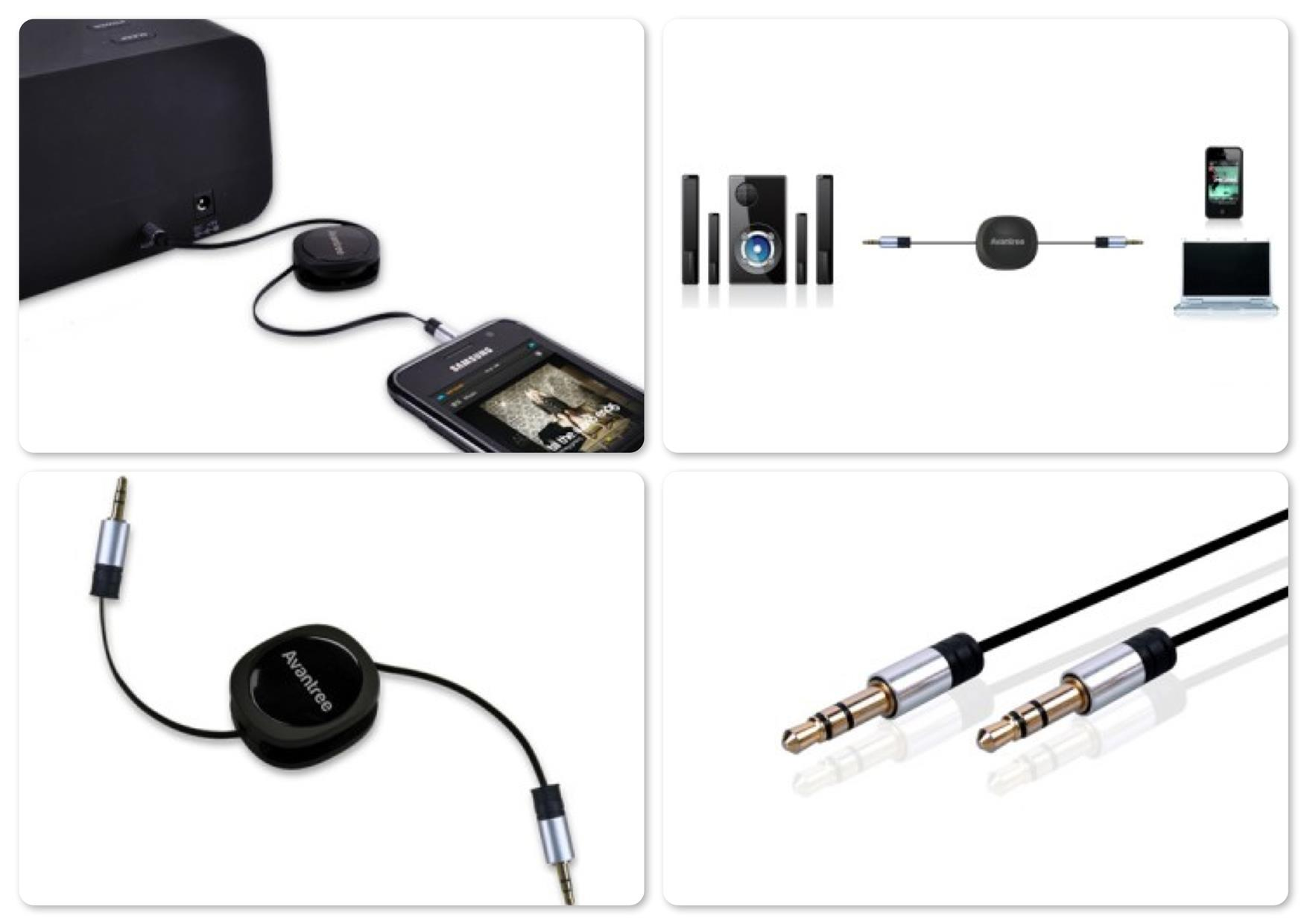 Bdotcom = Avantree Retractable Audio Auxiliary 80cm Cable  @ TR501
