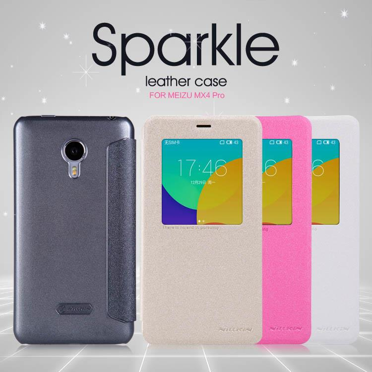 Bdotcom = Meizu MX4 Pro Nillkin Sparkle Series Leather Flip Case
