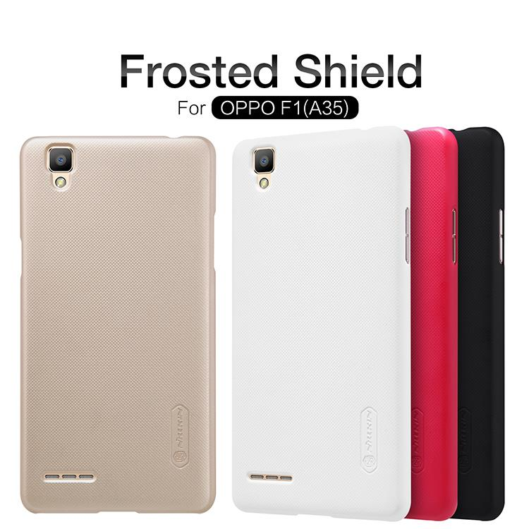 Bdotcom = Oppo F1 (A35) Nillkin Super Frosted Shield Cover Sand Case