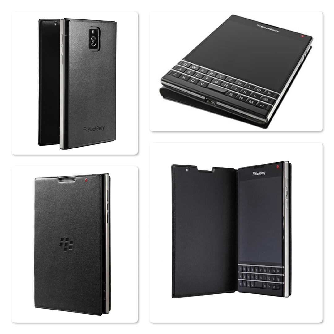 Bdotcom = Original BlackBerry Passport Leather Flip Case
