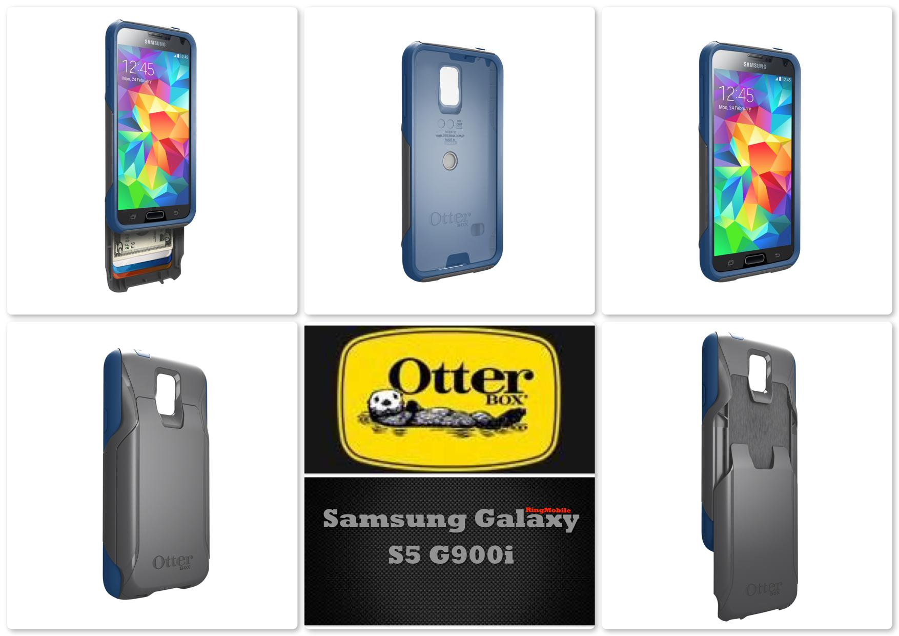 Bdotcom = Samsung Galaxy S5 Otterbox Commuter Wallet Series Blueprint