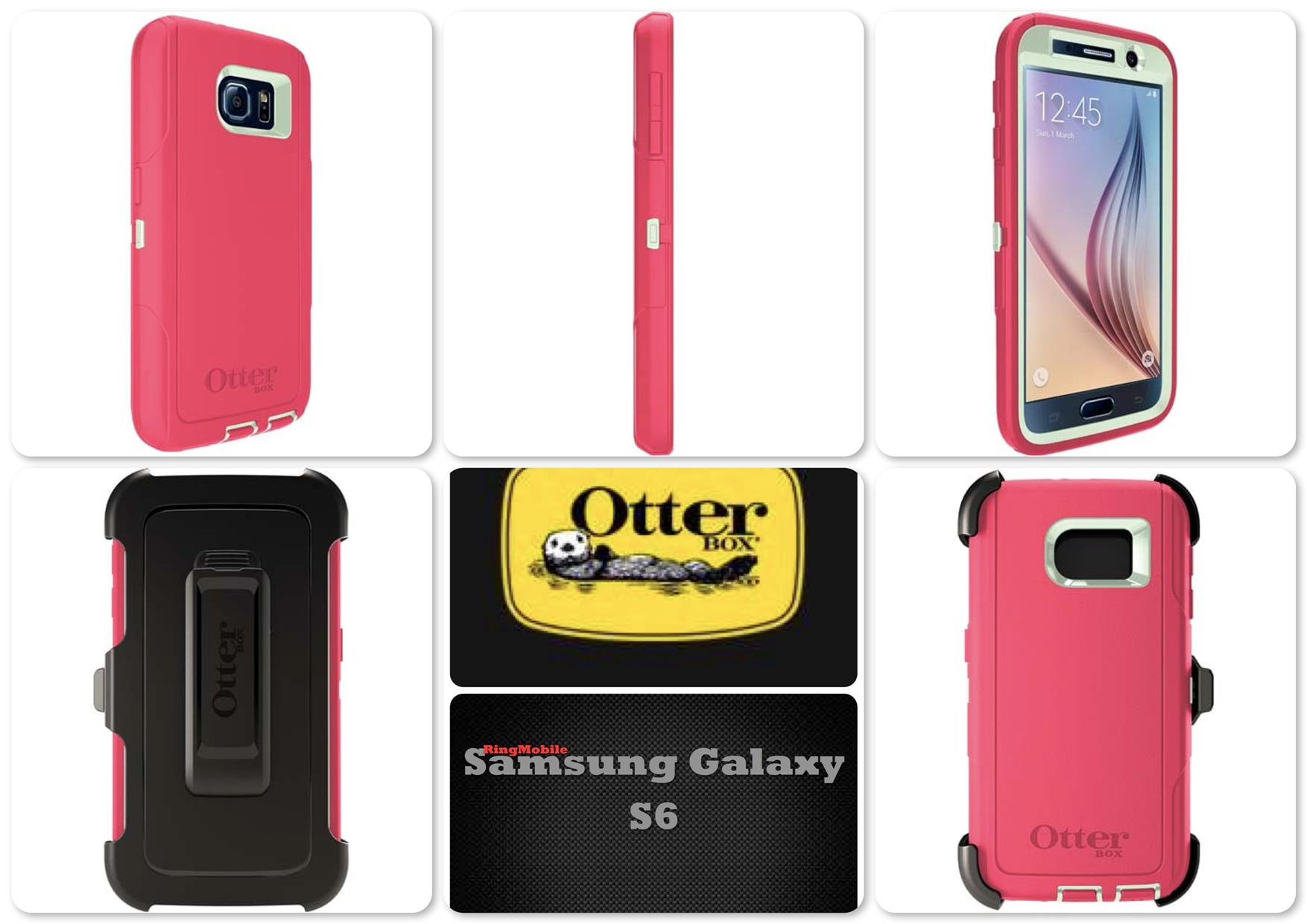 Bdotcom = Samsung Galaxy S6 Otterbox Defender Series Melon Pop