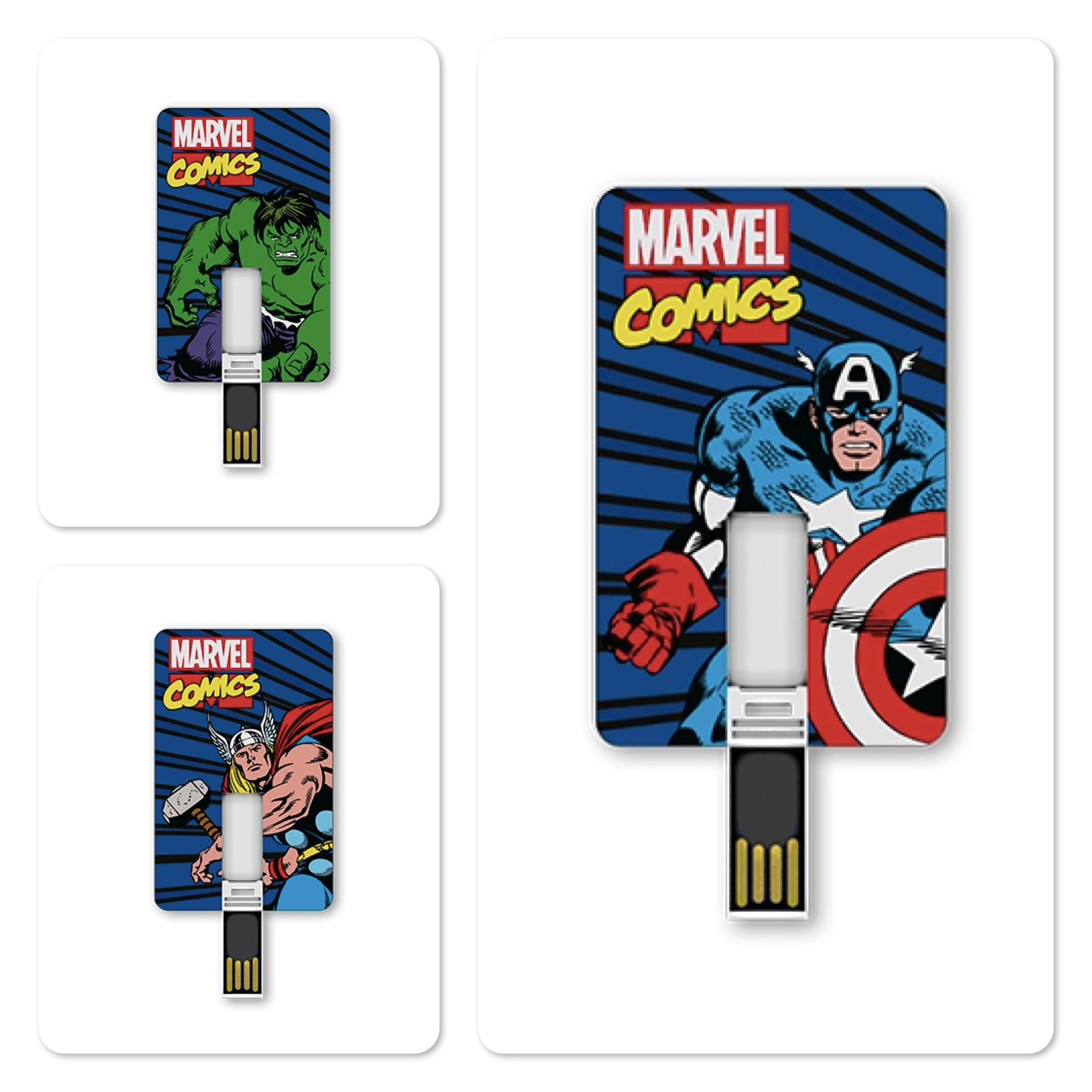 Bdotcom = Tribe 8GB USB Flash Drive Iconic Card = Marvel