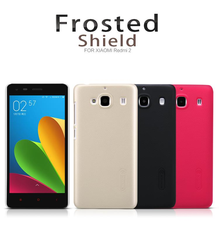 Bdotcom = Xiaomi Redmi2 Nillkin Super Frosted Shield Cover Sand Case