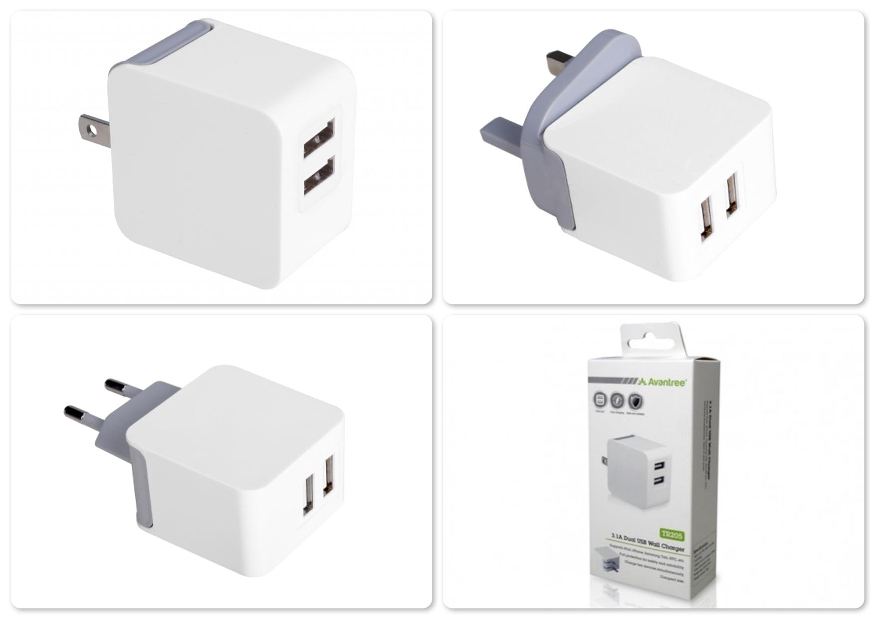 Bdtcom = Avantree 15.5W Dual USB Port Wall Charger - TR205