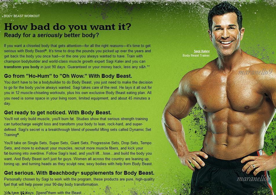 Beachbody Presents The Body BEAST Workout  Transformation System.3DVDs