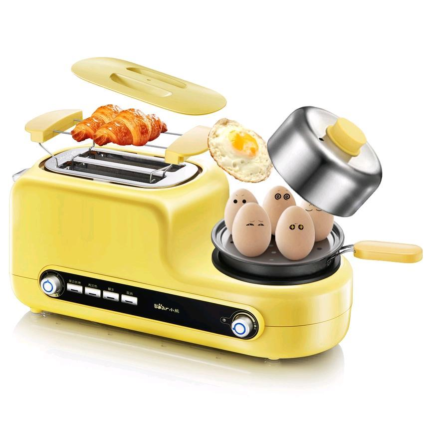 Bear DSL-A02Z1 Multi-functional Breakfast Station Egg Steamer, Toaster