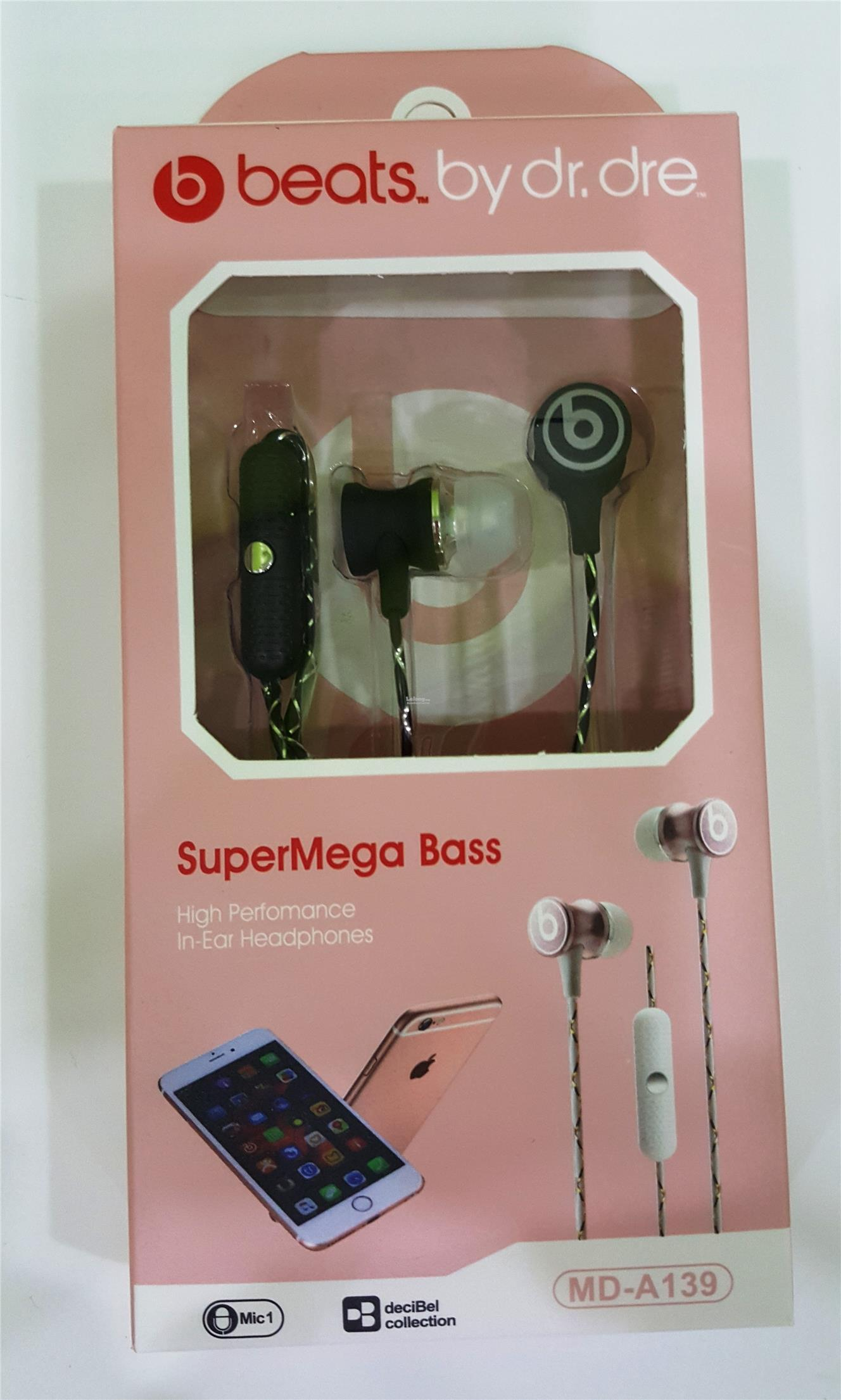 Beats Super Mega Bass Handsfree Earphone with Mic ear phone handfree