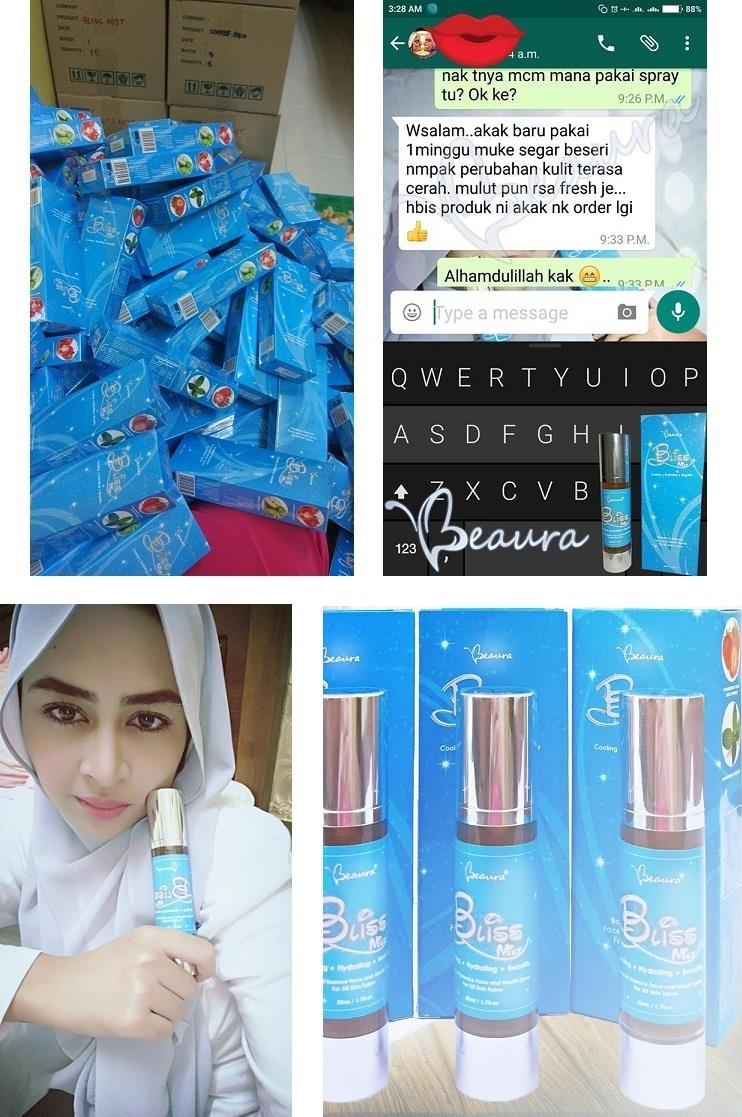 Beaura BLISS MIST Facial And Mouth Spray. Semburan Muka Dan Mulut