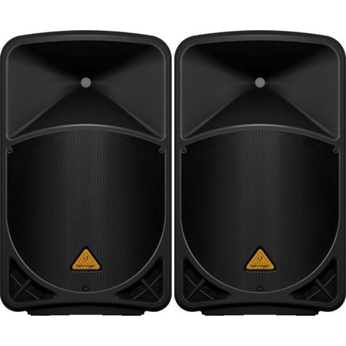 Behringer EUROLIVE B115MP3 Active PA Speaker System MP3 PAIR