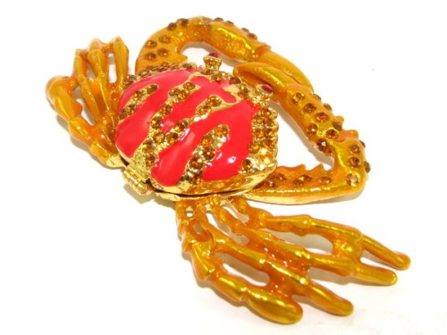 Bejeweled Wish-Fulfilling Crab for Business Prosperity Luck