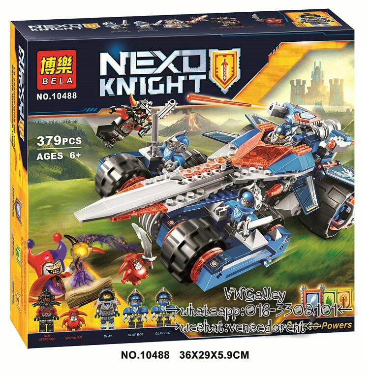 BELA 10488 Nexus Knights Clay's Rumble Blade Jestro Clay