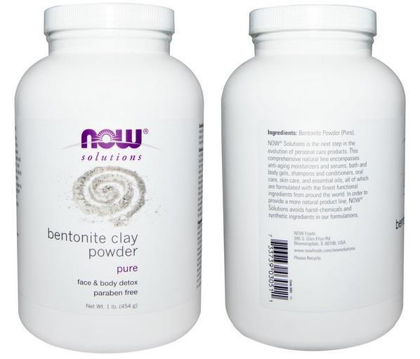Bentonite Clay Powder, Top quality, Oily Skin, Skin Detox, USA (454g)