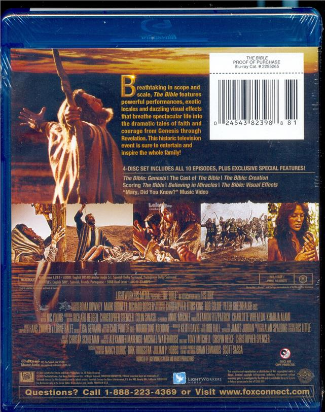 The Bible - The Epic Miniseries -  New Blu-Ray