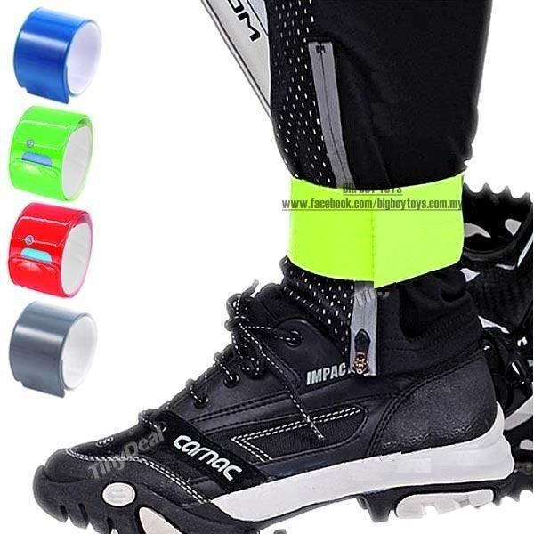 Bicycle High Visibility Reflective Slap Wrap Wrist Ankle Leg Bands for