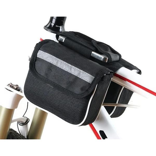 Bicycle Practical Multifunctional Frame Bag Double Saddle Bag
