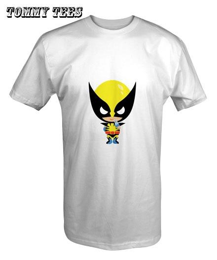 BIG HEAD WOLVERINE T -SHIRT WHITE/BLACK/RED