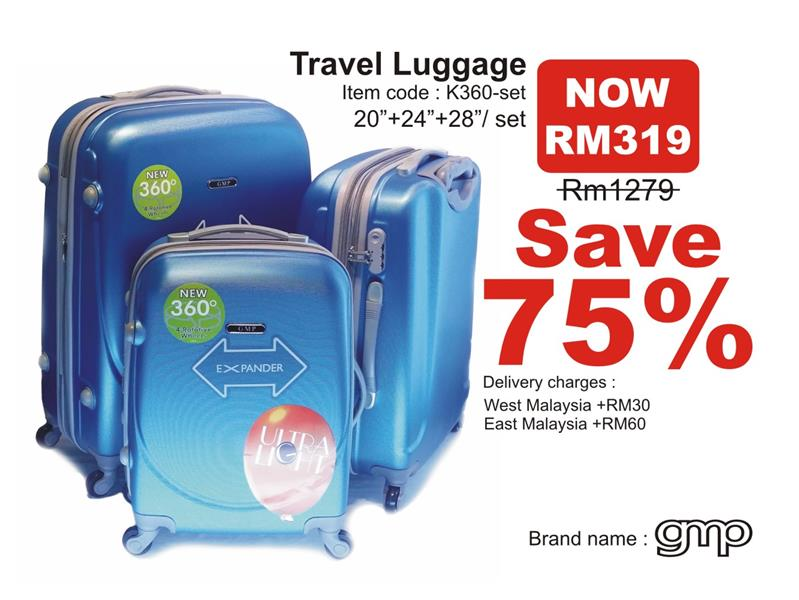 Big Sale GMP K360 Luggage Bag (end 4/15/2015 5:15 PM - MYT )